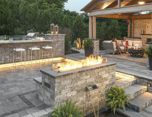 Patios Backyards | A & B Landscaping and Tree Service
